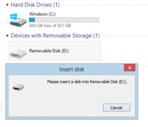 disk drive issue